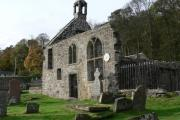 A lovely shot of Logie Old Kirk